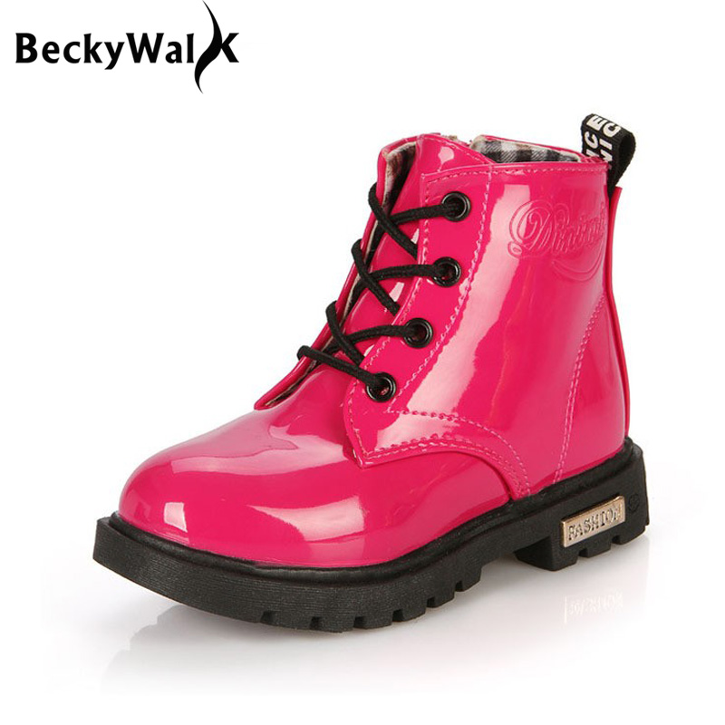 Children Boots Autumn Winter Waterproof Martin Boots Children Shoes Boys & Girls Boots Kids Shoes 1 - 12 Years Old Csh043