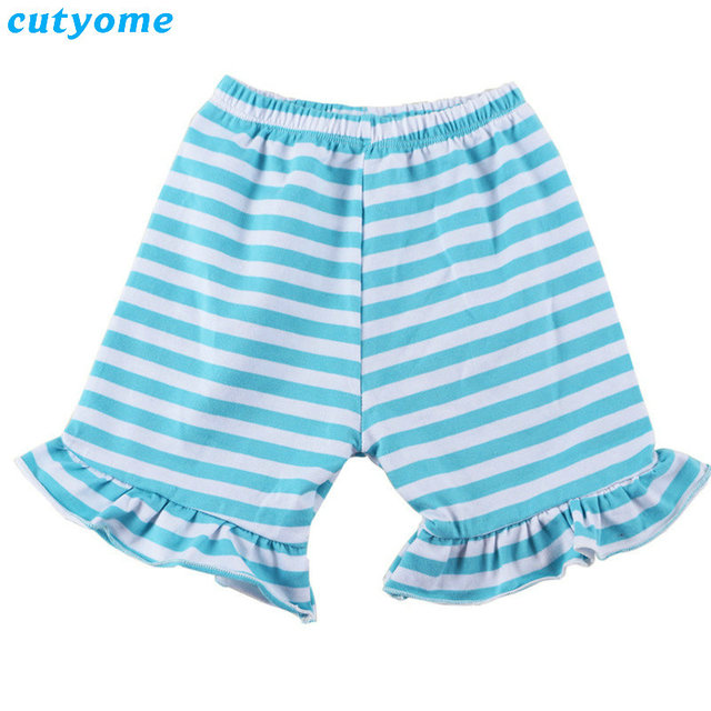 051a72bf881ca Cutyome Wholesales 5pcs/lot Baby Ruffle Striped Shorts Bloomers Clothes  Toddler Kids Girls Cotton Short Pants Children Clothing-in Shorts from  Mother ...