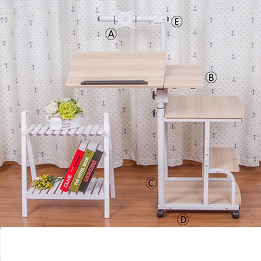 стол с регулируемой высотой портативный стол для ноутбука Портативный Складной Регулируемый стол для ноутбука компьютерный стол на колесиках - 3