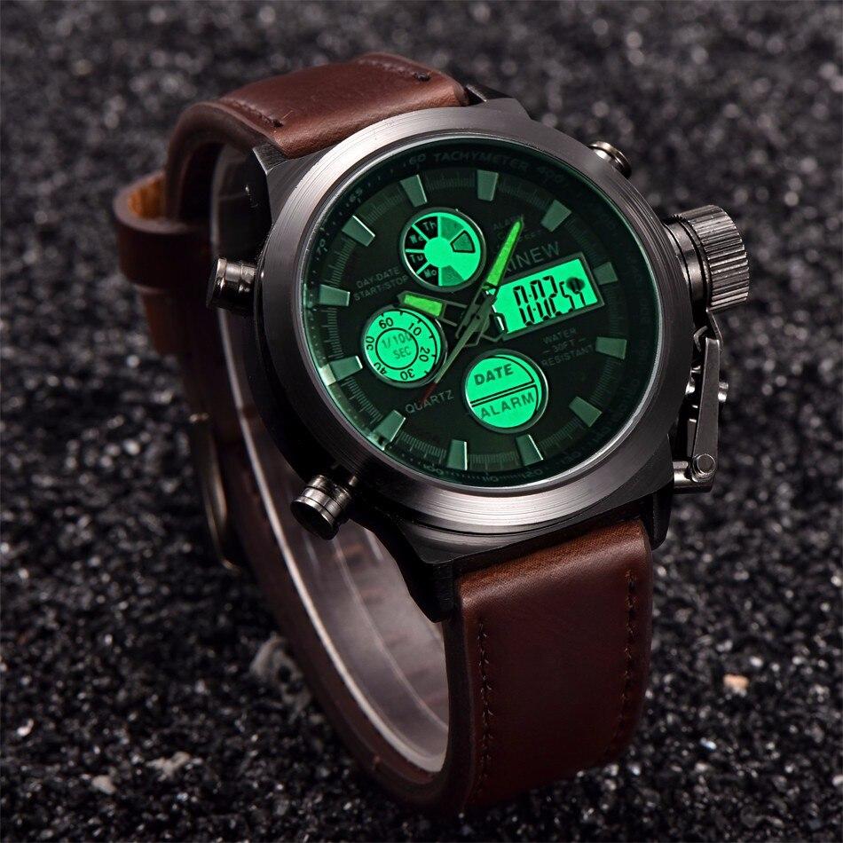 XINEW Mens Watches 2018 Luxury Quartz Sport Clock New Fashion Military Army Watch Men LED Wrist Watch Relogio Masculino /PY 4