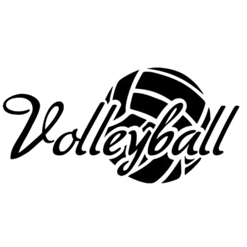 17.9cm * 8cm Volleybal Sport Mode Auto-Styling Motorfiets Auto Sticker Vinyl Decal S4-0012