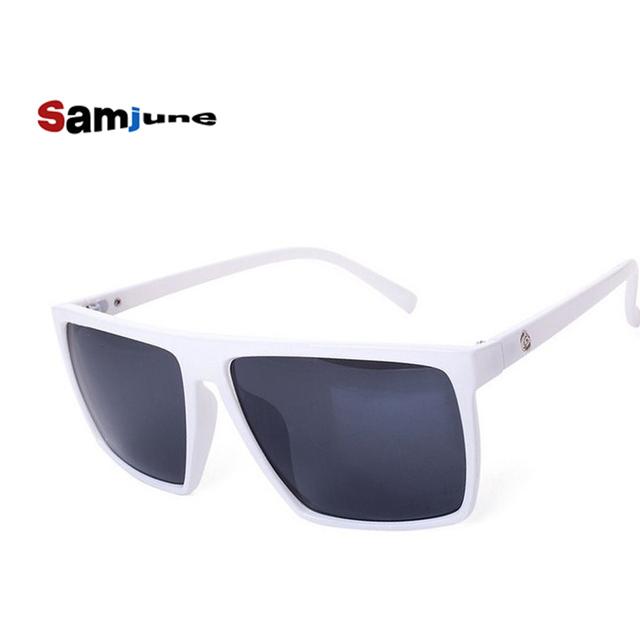 Brand retro Steampunk frame SKULL Square male logo Sunglasses Men All Black oversized big sun Glasses for men Women sun glasses