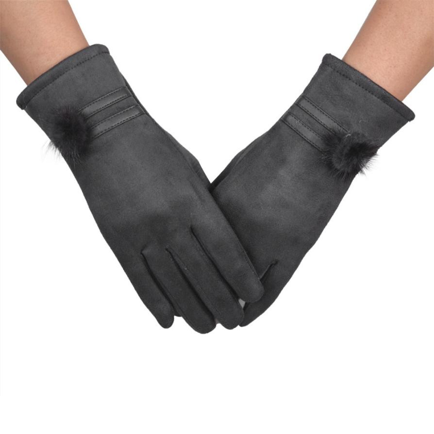 1Pair Black,Red,Blue,Grey,Brown gloves women Winter Warm Touch Screen Riding Drove Gloves for Women Lady female #520JD