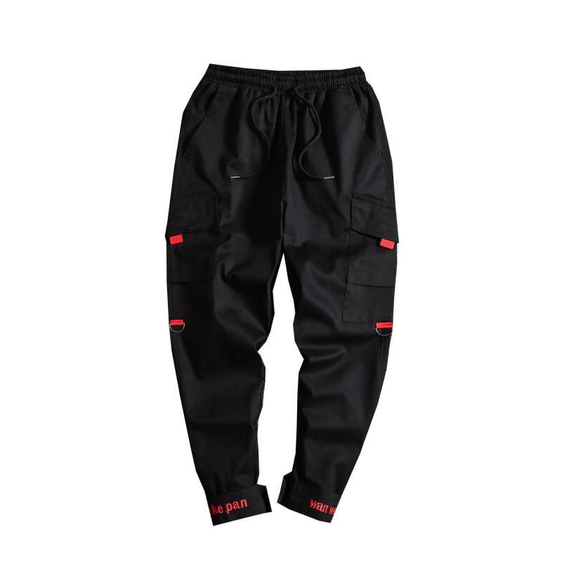 Plus Size Cargo Work Pants For Men Military Style Techwear Mens Elastic Waist Tactical Pants Plain Color Workout Ankle Pants 5XL