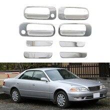 Для Toyota Mark II GX100 1996 1997 1998 1999 2000 дверная ручка крышка чаши ABS хромированные аксессуары наклейки для стайлинга автомобилей