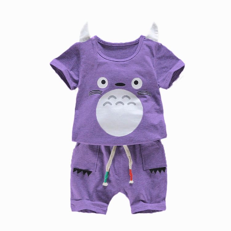 Baby girls Clothing Sets Children Fashion Cartton T-shirt And Shorts Suits Kids Toddler Clothes Novelty Boys Sports Clothes Set