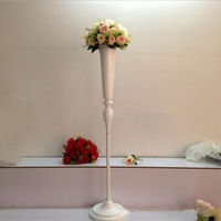 New Arrival 120 cm Tall White Flower Vase Wedding Centerpieces Vase Decoration Event Party Road Lead 1 lot = 10 pcs