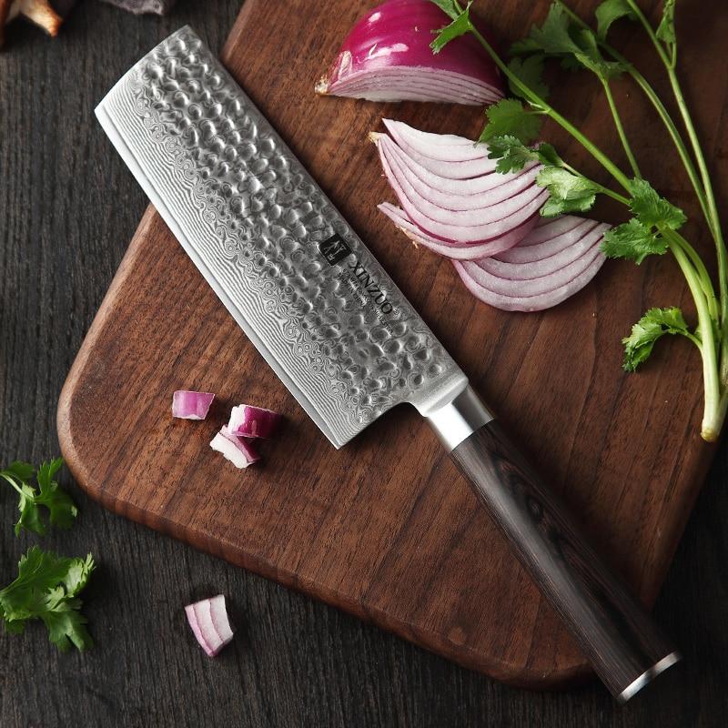 Image 3 - XINZUO Japanese Damascus Steel 6PCS Kitchen Knives Set Ultra Sharp Blade Chef Knife 62 HRC Cooking Knife Tools Pakkawood HandleKnife Sets   -