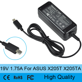 19V 1.75A 33W AC Laptop Power Supply Cable Adapter Battery Charger for Asus Eeebook X205T X205TA High Quality image