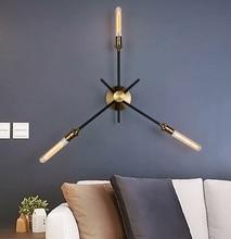 2018 Hot Sale 3 Heads American Industrial Retro Wall Lamp for Bar Restaurant Aisle Wandlamp Loft Iron LED Wall Lighting Fixture