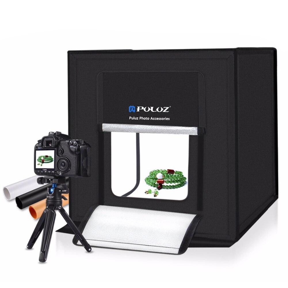 40x40 cm Mini LED Lumière Chambre Photo Studio Photographie Éclairage Tente Toile Cube Boîte celular Blanc toile de fond Photo studio kits