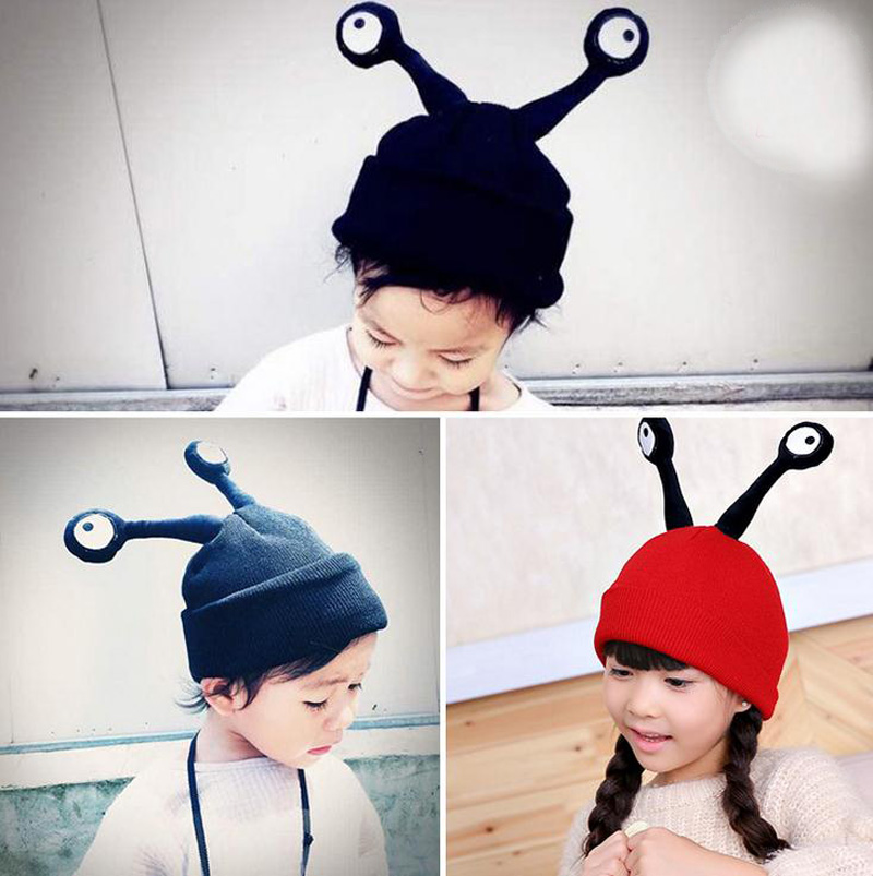 2016 Large Cartoon insect feelers Children knitted Hats boys girls Winter Hat Baby Kids Earflap Cap age for 2 -5 Years Old new the european ce standards pp plastic baby walkers scooters musical scooter for children 2 years of age or older