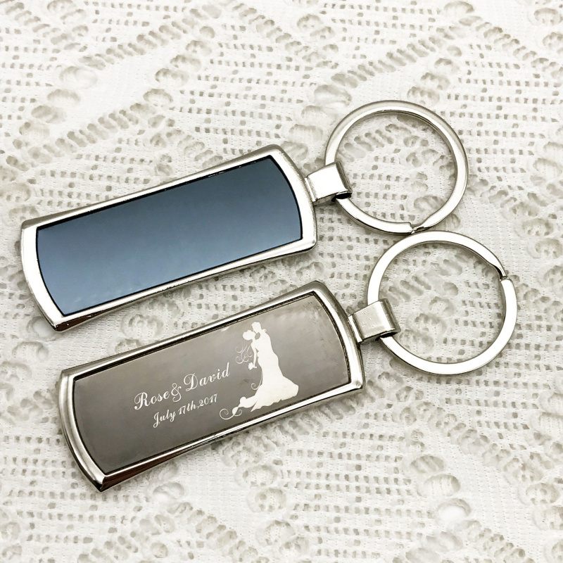 Blue Willow Pattern Silver Tone Bottle Opener Keyring traditional 18th century