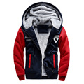 Fashion Thick Sweatshirt Jacket Winter Hooded Coat Soft Faux Hoodie Sweatshirt Overcoat  For Big Boys Kids Men Outerwear Clothes