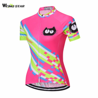 2017 Weimostar Cycling Clothing Short Sleeve Outdoor pro team Women summer Cycling Jersey bike jersey Mtb ciclismo sportswear