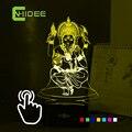 7 cores USB 3d Nightlight para a índia Lord Ganesha LED RGB candeeiro de mesa de toque férias atmosfera luzes da noite Lampara toque noite