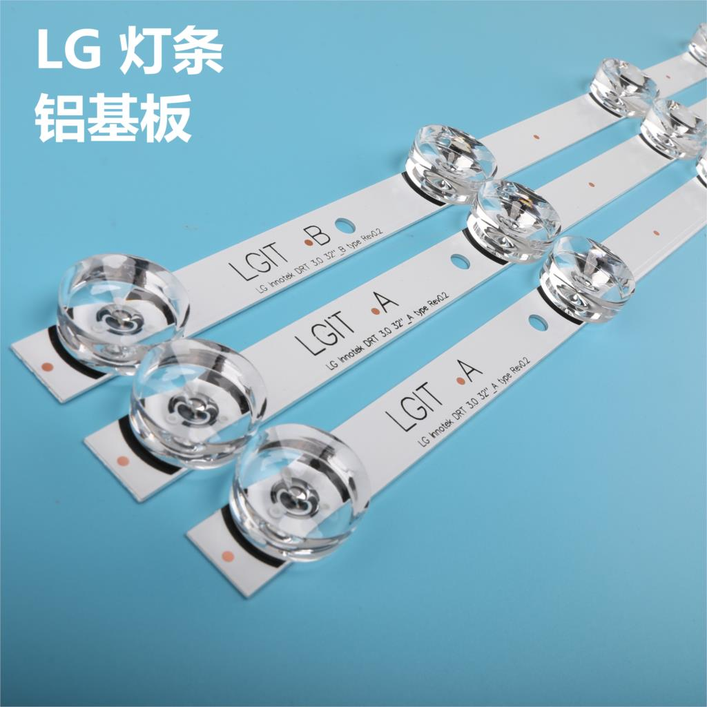 New original Kit 3 PCS 6LED 590mm LED strip for <font><b>LG</b></font> 32LY340C <font><b>32LF560V</b></font> 32LB582D LGIT B A 6916L-1703B 1704B 6916L-2406A 2407A image