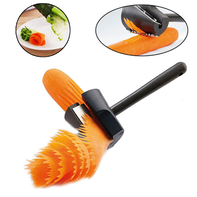 Vegetable Roll Flower Decorative Tool Carrot Carving Roll Peeler