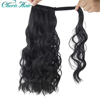 Synthetic Ponytail Body Wave Hair Extension Ponytail Extenciones de cabello Clip In Ponytails Curly Clip In Hair Pieces