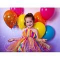 Princesa Flor Meninas Vestido de Tutu Para O Aniversário/Festa Do Joelho-Comprimento Colorful Rainbow Bonito Do Bebê Meninas vestido Vestido de Baile PT80