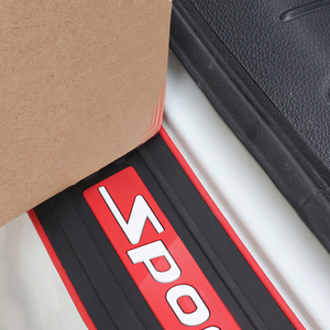 Image 3 - Car Trunk Bumper Guard Pad SUV Guard Protector Rubber Auto Sill Plate Bumper Guard Rubber Pad Protector Car Styling Accessariess