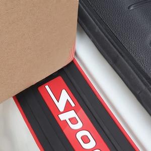 Image 3 - 車のトランクバンパーガードパッドsuvガードプロテクターラバー自動敷居プレートバンパーガードパッドプロテクター車のスタイリングaccessariess
