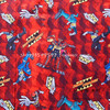 105X100cm Dino Charge Dark Red Background Cotton Fabric For Baby Boy Clothes Bedding Set Hometextile Cushion