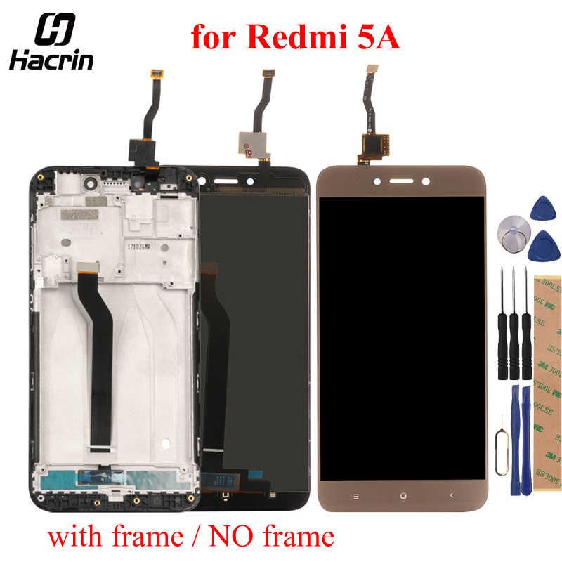 ل Xiaomi Redmi 5A شاشة الكريستال السائل + شاشة تعمل باللمس 5.0 بوصة 100% اختبار محول الأرقام الجمعية استبدال ل Redmi 5A الهاتف المحمول