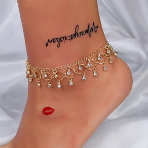 Bohemian-Anklet Jewelry Leg-Bracelet Beaded Barefoot Sandals Women Accessories Gold-Layers