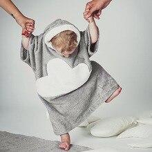 Puseky 2017 Enfants de Garçon Et de Fille Couverture Pyjamas Robe Enfants Peignoirs Hoodies Bébé Homewear Garçons Filles de Bande Dessinée Accueil usure 1-6 T