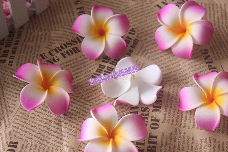 7*3CM artificial plumeria flowers,hawaiian Foam plumeria flowers ...