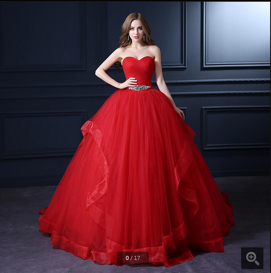 Red Ball Gown Dresses: Aliexpress.com : Buy 2016 New Designer Red Ball Gown
