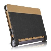 Ultra Slim Fold Canvas Flip Stand PU Leather Cover Protector Magnetic Case For Lenovo Yoga Tab