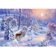 Winter landscape diamond painting christmas scenery embroidery full round