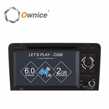 Ownice C500 Android 6.0 Quad Core 2 Din Car DVD Player for Audi A3 S3 2003-2011 with GPS Sat Navi wifi 4G radio 2GB RAM 16GB ROM