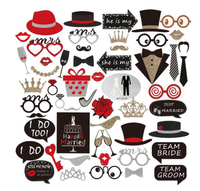 Free Shipping 39pc Set NEW Cool Wedding Hen Party Photo Booth Props Photo Props Party Photography