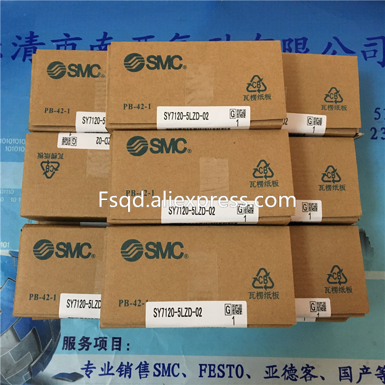 SY7120-5LZ-02 SY7120-5LZD-02  SY7120-5LZE-02 SMC solenoid valve  pneumatic component 5 way pilot solenoid valve sy7120 5lz c10