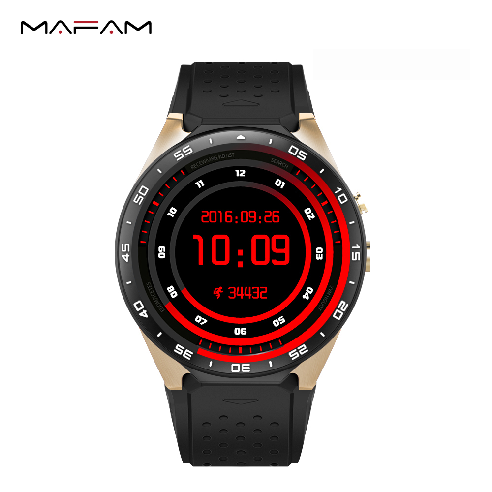 KW88 WiFi 3G Bluetooth Smart Watch Android 5.1 OS MTK6580 Quad Core SIM card Heart Rate Monitoring GPS location HD camera