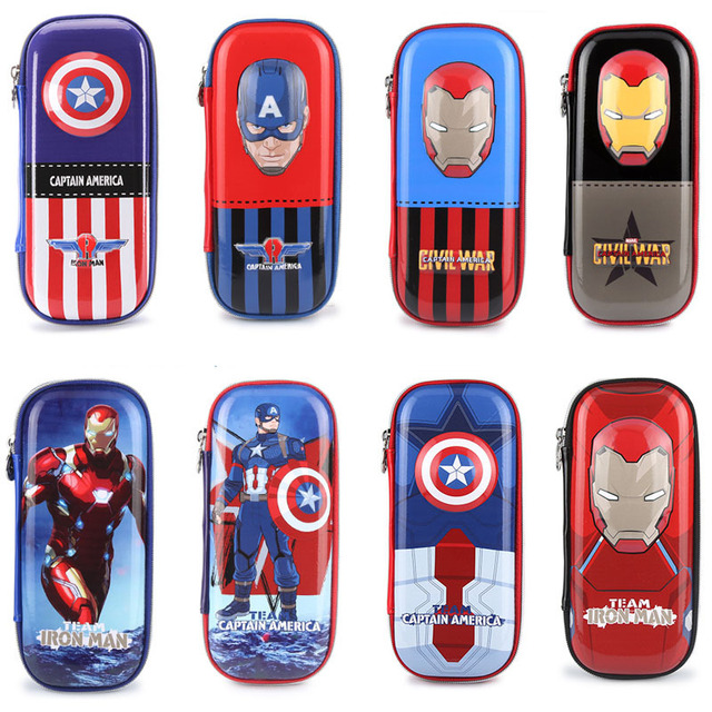 Genuíno Saco do Lápis Disney Cars Figura Tos Anime Congelado Marvel Avengers Spiderman Capitão América Brinquedo de EVA Saco do Lápis para As Crianças