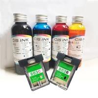 Vilaxh 400ml Edible Ink + 803 Empty Edible Ink Cartridge For Hp Coffee Printer Food Printer for Epson Inkjet Printers