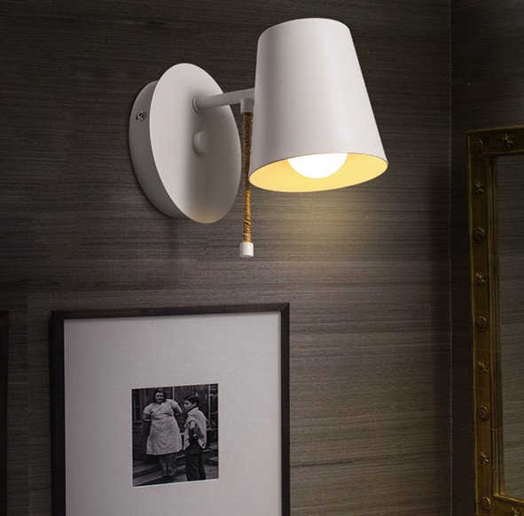 Loft Style Simple Vintage LED Wall Lamp Bedside Wall Light Fixtures For Living Room Wall Sconce Indoor Lighting Lamparas simple modern led wall lamp reading switch adjust wall light fixtures home fabric shade bedside wall sconce indoor lighting