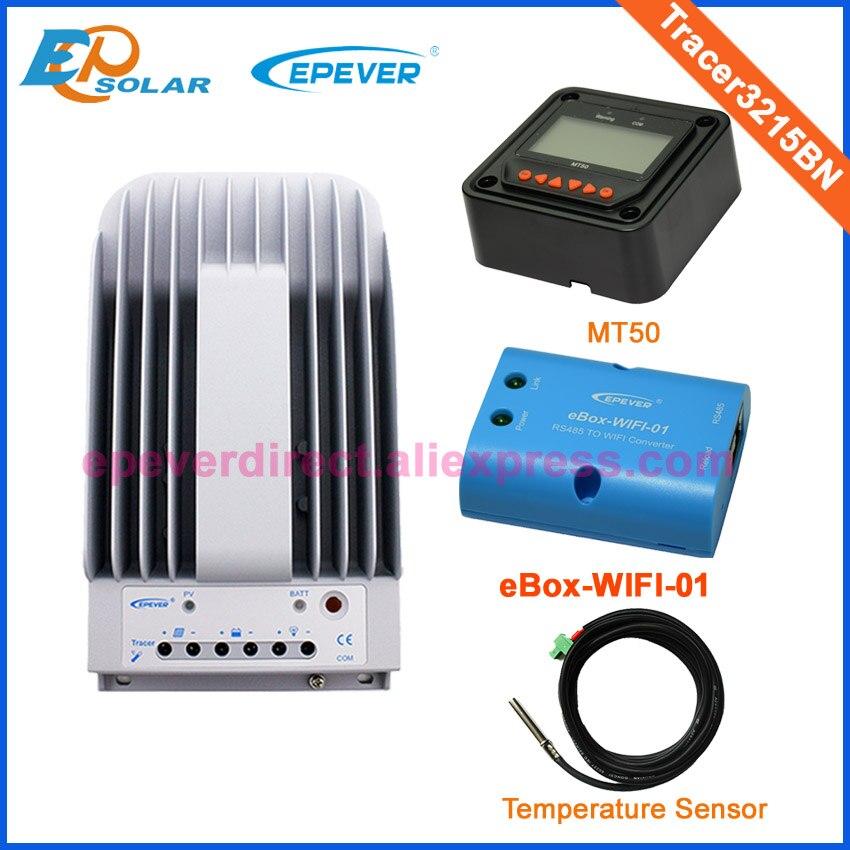 30A 12 В 24 В солнечное зарядное устройство Tracer3215BN MT50 метр функцией Wi Fi и датчик температуры 30amp