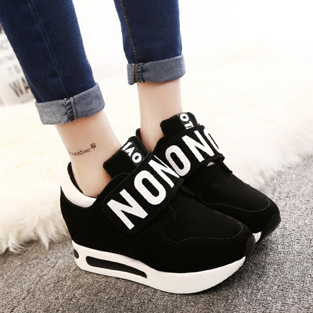 New 2017 spring Wedges High Heels thick soled Ladies Casual Single Shoes autumn Women  platform shoes chaussure femme