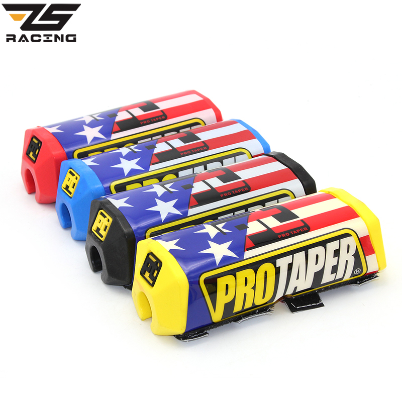 Humble Zs Racing Red Stripe Flag Handlebar Bar Pad For 1-1/8 22mm Fat Handlebar Offroad Motorcycle Supermoto Dirt Pit Bike Crf Yzf Ktm Motorcycle Accessories & Parts