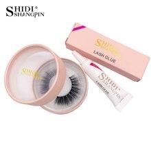 b3aebc769c3 SHIDISHANGPIN 1 pair mink eyelashes 1 box make up waterproof glue kit  natural long eyelashes handmade 3d mink eyelashes #7074WB
