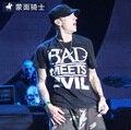 Eminem hip-hop street rap rock street short-sleeved T-shirt