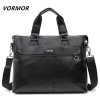 Men's Handbag Bags Business Computer Laptop Briefcase PU Leather Shoulder Messenger Bags Men Tote