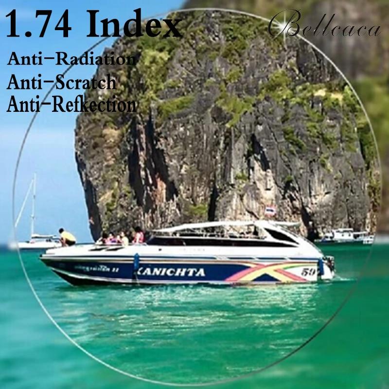 1 74 Index Aspheric Ultra thin Optical Prescription Lens CR 39 Myopia Lens Glasses Lens Anti
