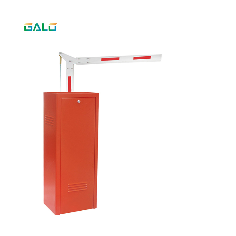 Low Space For Use Electric Automatic Barrier Gate System With Foldable Boom Arm
