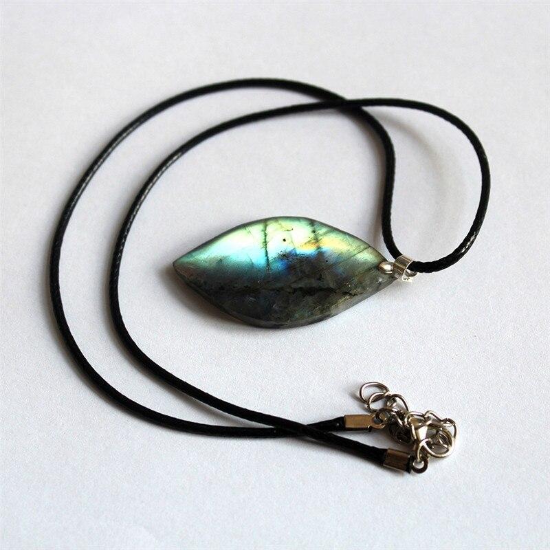 Natural Irregular Crystal Labradorite Pendant Moonstone Sunstone Pendant Divination Spiritual Meditation Jewelry Pendants